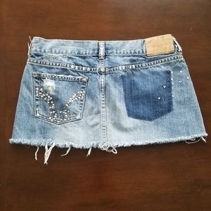 Hollister Co mini jean skirt
